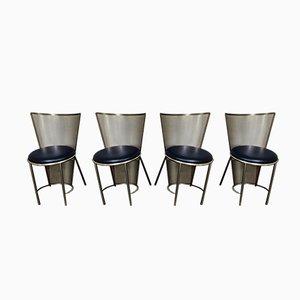 Esszimmerstühle von Frans Van Praet für Belgo Chrom / Dewulf Selection, 1992, 4er Set