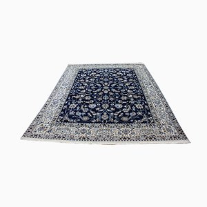 Vintage Middle Eastern Hand-Knotted Wool and Silk Carpet, 1950s