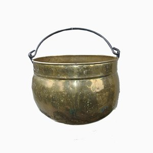 Antique Brass Garden Pot