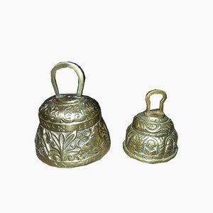 Vintage Brass Bells, Set of 2