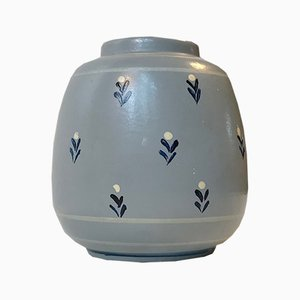 Art Deco Danish Ceramic Vase from Knabstrup, 1930s