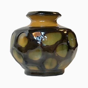 Vaso Art Deco in ceramica di Herman August Kähler per Kähler, Danimarca, anni '30