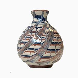 Deconstructed Glaze Ceramic Vase by JB, 1950s