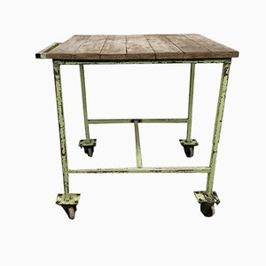 Vintage Industrial Green Trolley, 1960s