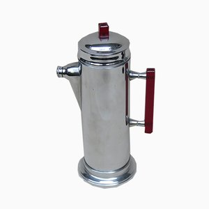 Vintage Art Deco Chrome-Plated, Red Catalin & Stainless Chrome Shaker