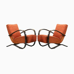 Model H269 Lounge Chairs by Jindřich Halabala for UP Závody, 1930s, Set of 2