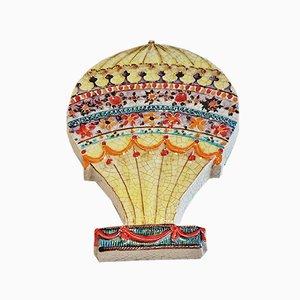Italian Hot-Air Balloon Plaque by Alvino Bagni, 1960s