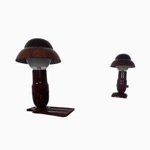 Lámparas de mesa Art Déco de baquelita de Hergil, años 40. Juego de 2