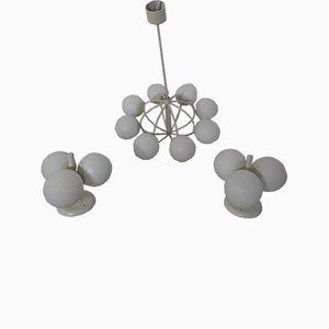 Lampade da parete e soffitto Sputnik di Kaiser Idell / Kaiser Leuchten, anni '70, set di 3