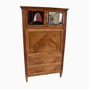 18th Century Louis XVI Blond Walnut Secretaire