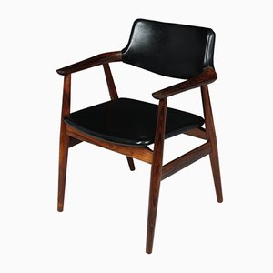 Mid-Century Danish Rosewood Desk Chair, 1950s