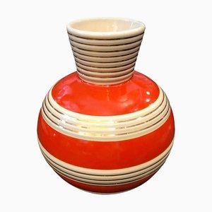 Italienische Art Deco Keramikvase von Rometti Ceramics, 1930er