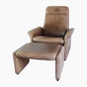 Leder Modell DS50 Sessel mit Hocker von de Sede, 2000er