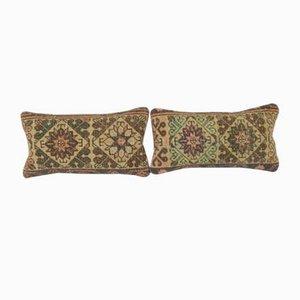 Dekorative Türkische Kissenbezüge im Lumbar Teppich, 2er Set