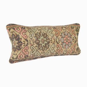 Decorative Turkish Oushak Rug Lumbar Cushion Cover