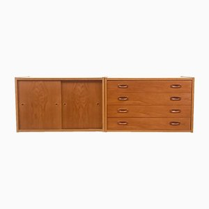 Mid-Century Danish Teak Wall Unit by Poul Cadovius for Royal System