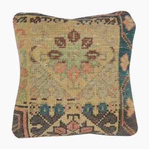Distressed Organic Oushak Turkish Rug Cushion Cover