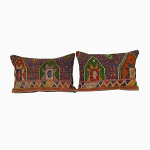 Turkish Kilim Cushion Cover, Set of 2