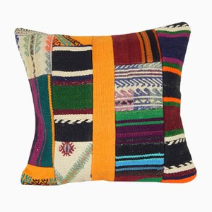 Decorative Kilim Patchwork Rug Cushion Cover with Modern Style