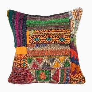 Organic Turkish Kilim Cushion Cover