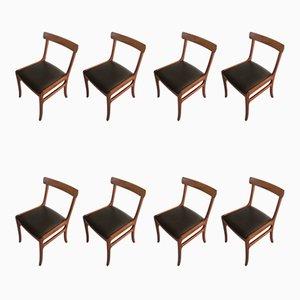 Esszimmerstühle aus Mahagoni von Ole Wanscher für Poul Jeppesens Møbelfabrik, 1960er, 8er Set