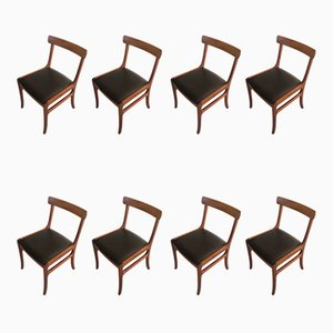 Mahogany Dining Chairs by Ole Wanscher for Poul Jeppesens Møbelfabrik, 1960s, Set of 8