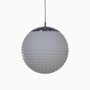 Lampe à Suspension en Verre Opalin Blanc par Rolf Krüger pour Staff, 1960s