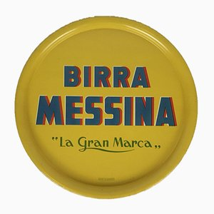 Metal Messina Beer Tray, Italy, 1960s