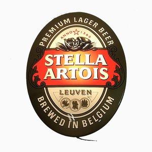 Cartel de cerveza Stella Artois iluminado, años 90