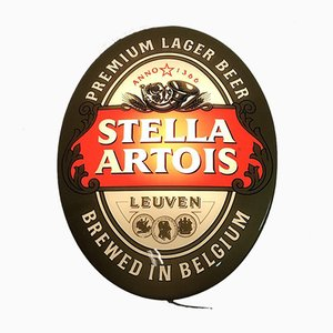 Illuminated Stella Artois Beer Sign, 1990s