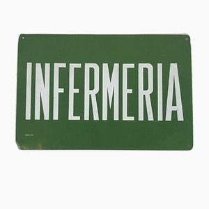 Green Infermeria Sign, Italy, 1970s