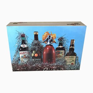 Martini Christmas Gift Box in Cardboard for Bottles, Italy, 1970s