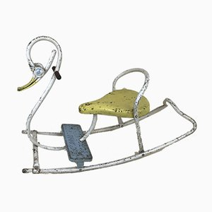 Swan-Shaped Swing in Tubular Metal from Mobo, England, 1950s