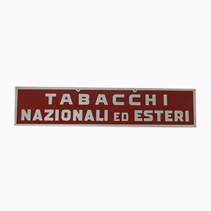 National and Foreign Tobacco Screen-Printed Aluminum Sign, Italy, 1960s