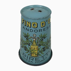 Cover Cap in Silk-Screened Tin Piretti Fine Olive Oil, Italy, 1950s