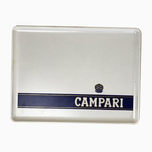 Campari White Plastic Advertising Tray from SPG, Italy, 1970s