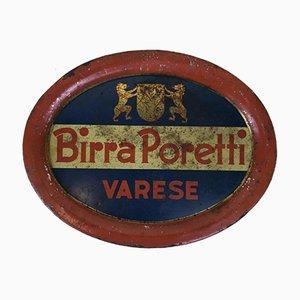 Poretti Varese Beer Tray, 1950s