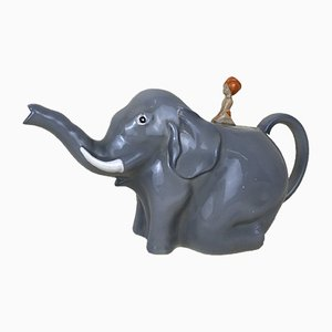 Teapot Model Sabu or Boy on the Elephant from Colclough, England, 1930s