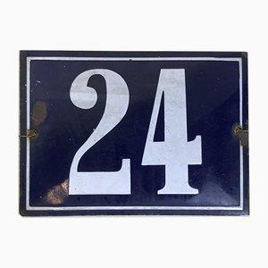 Enameled Number 24, France, 1950s