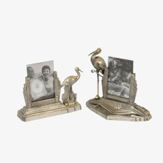 Vintage French Art Deco Photo Frames, Set of 2