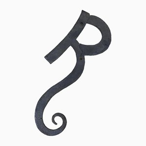 Letter R with Wrought Iron Curl, 1970s