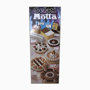 Gelati Motta Screen-Printed Sign, Italy, 1990s