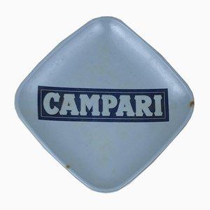Campari Blue Saucer in Hard Plastic from Kean, 1960s