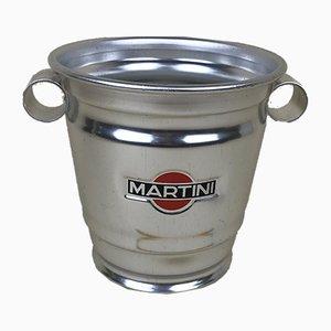 Martini Aluminum Advertising Bucket, 1980s