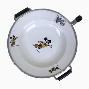 Walt Disney Mickey Mouse Ceramic and Aluminium Plate, 1960s