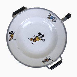 Walt Disney Mickey Mouse Keramik und Aluminium Teller, 1960er