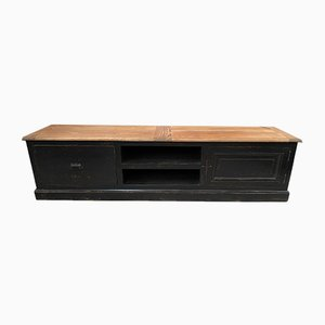 TV Cabinet with Black Patina, 1990s