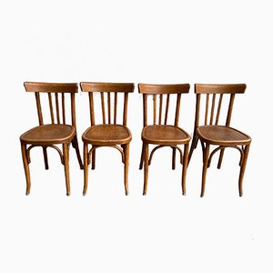 Bistro Chairs, 1960s, Set of 4