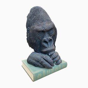 Sculpture Monkey Mask par Yves Gaumetou, 1990s