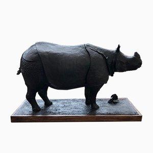 Rhinocéros en Résine par Yves Gaumetou, 1990s
